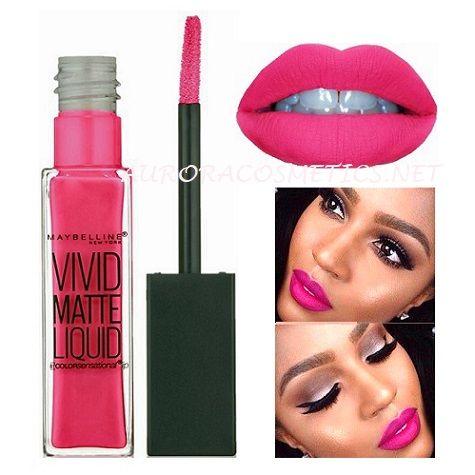 Maybelline Vivid Matte Liquid Lipstick Electric Pink x12